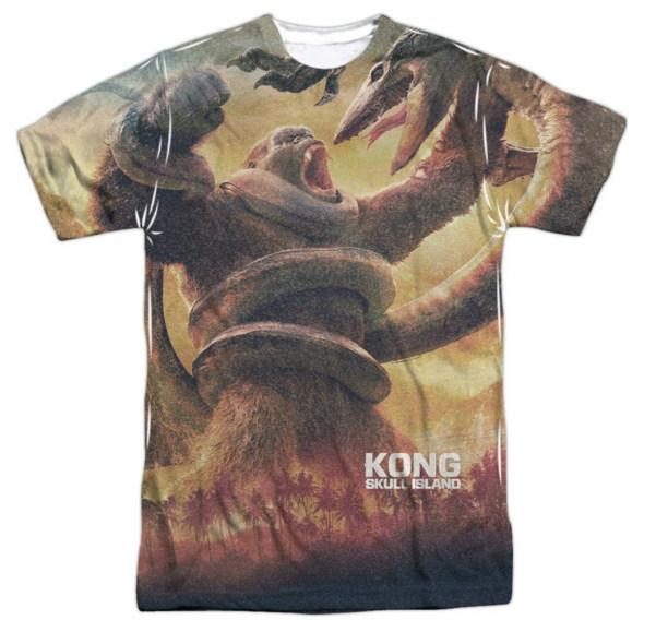 kong skull island t-shirt 2 small